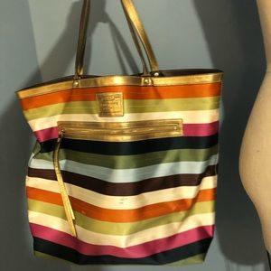 Coach Rainbow Striped Tote